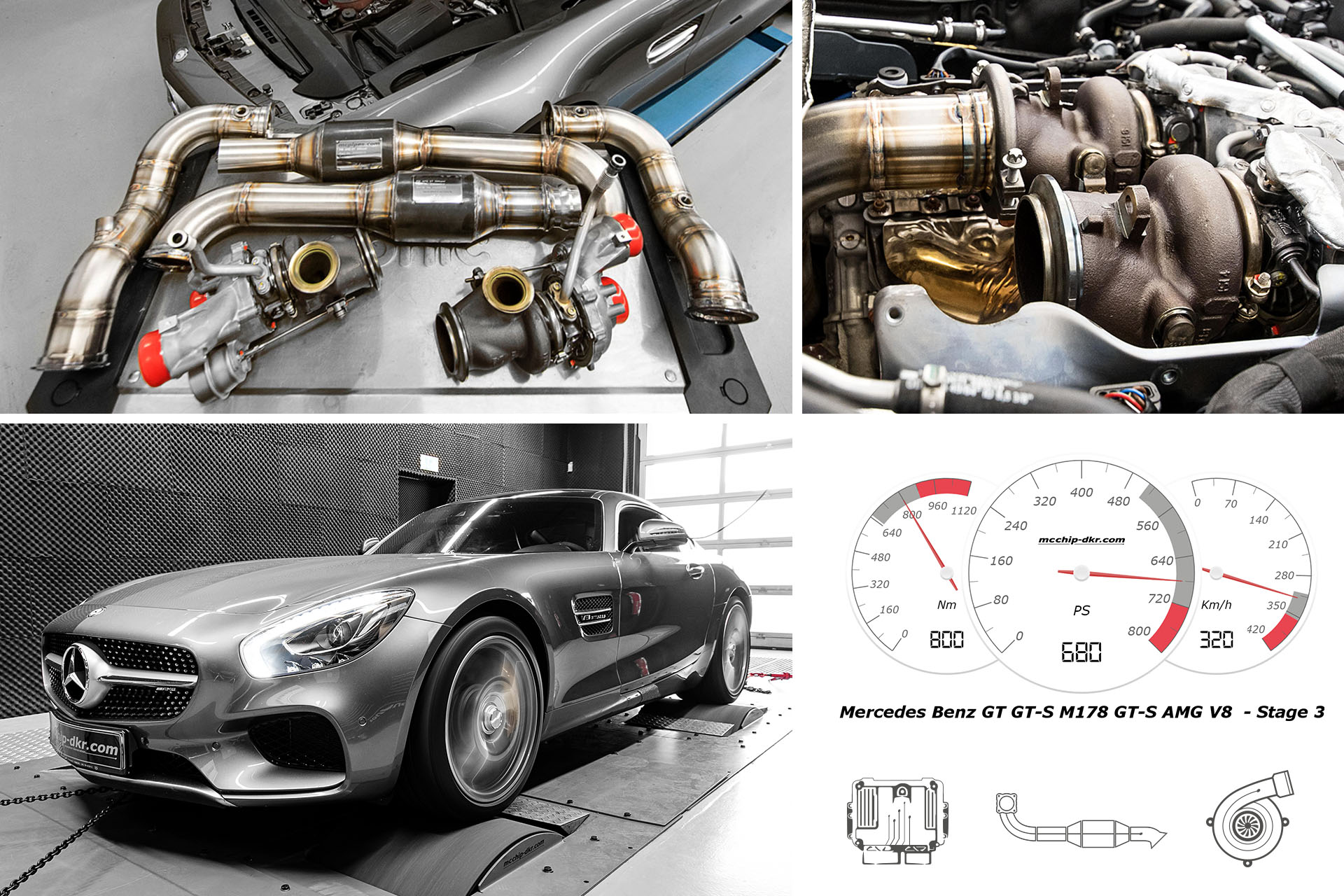 Performance upgrade Mercedes-AMG GT-S 4 0 V8 Bi-Turbo Stage 3