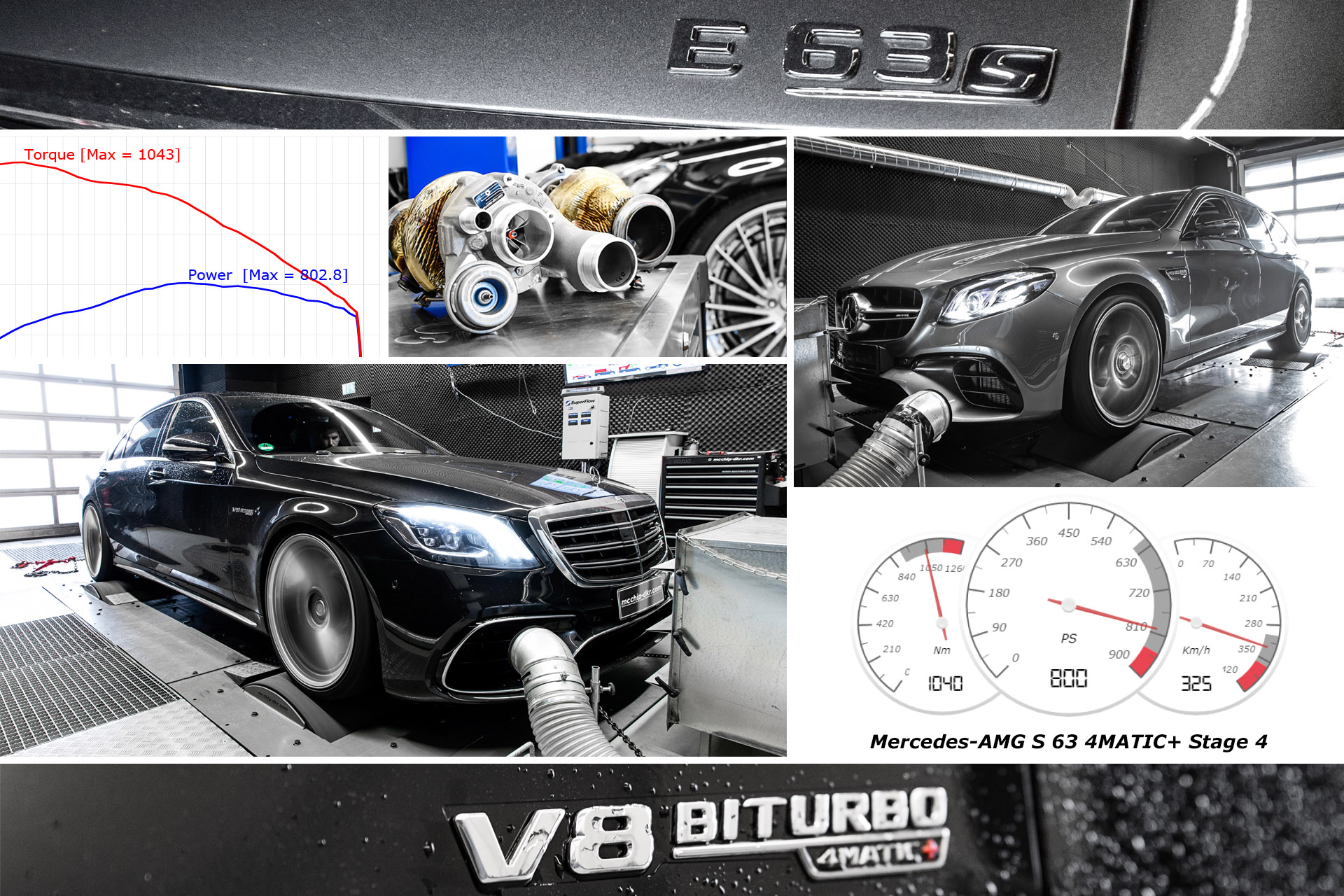 Performance upgrade Mercedes-AMG E63 S & S63 Stage 1 - 4