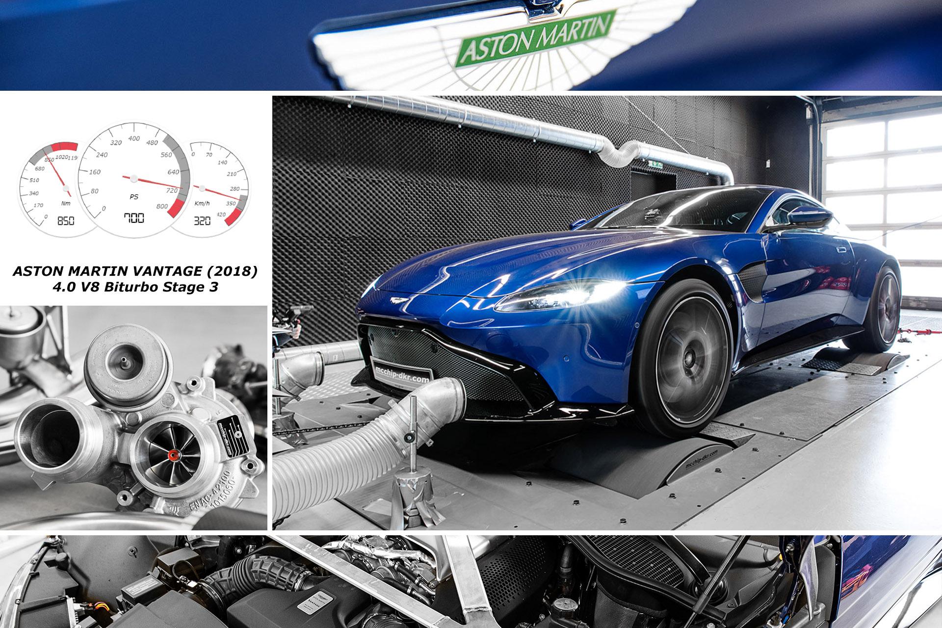 Chiptuning Performance Upgrade Aston Martin Vantage V8 2018 Stage 1 3